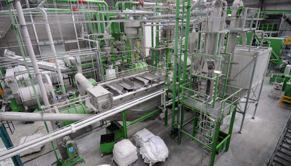 HDPE washing plant machinery