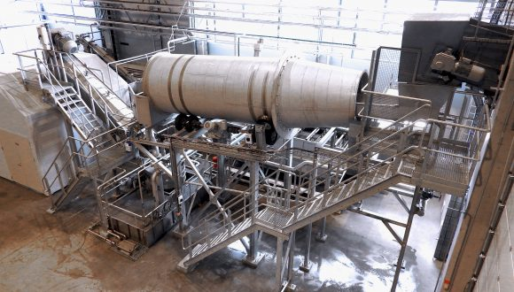 PE and PP rigid and film washing plant trommel