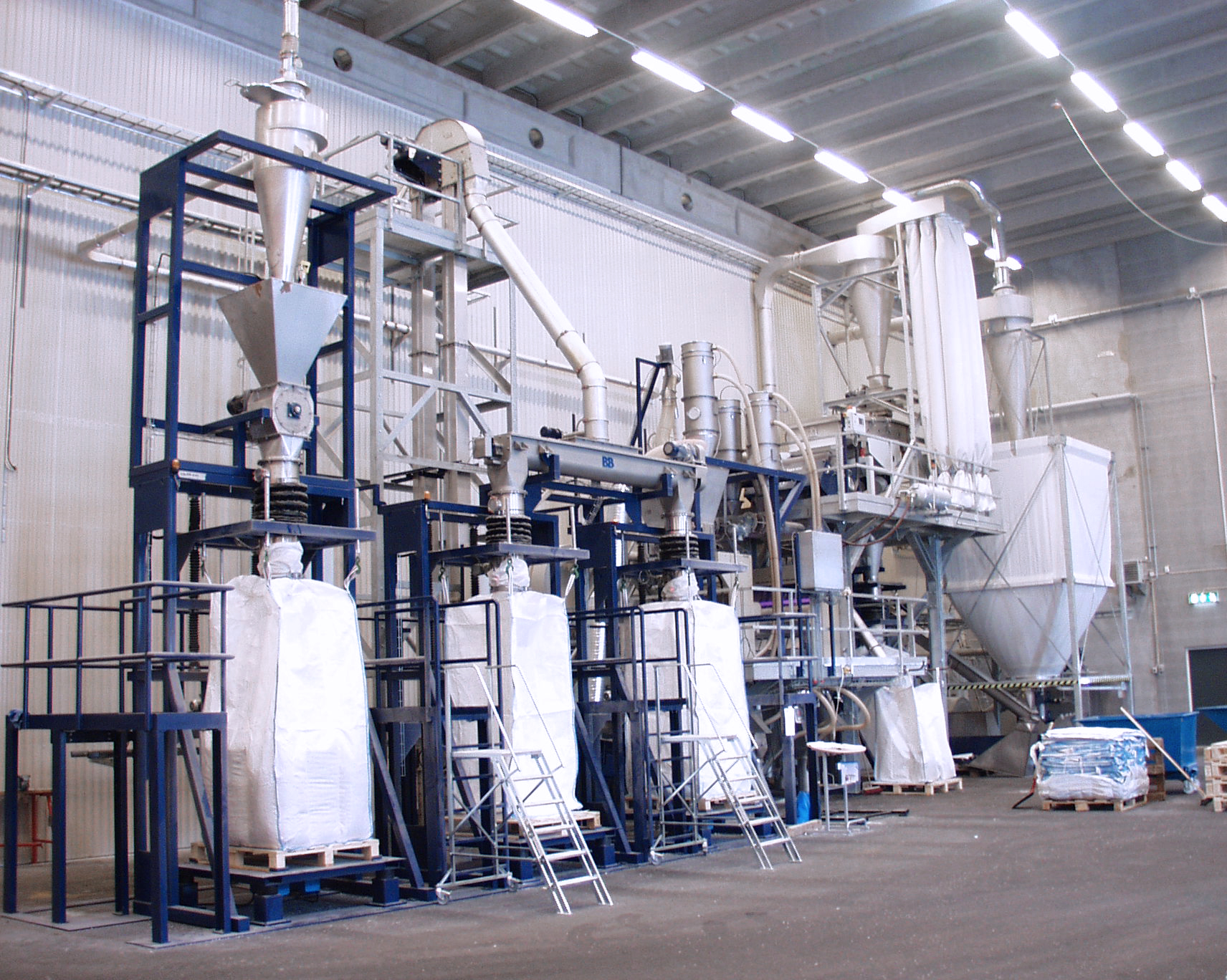 automatic big bag filling station | Plastic recycling equipment