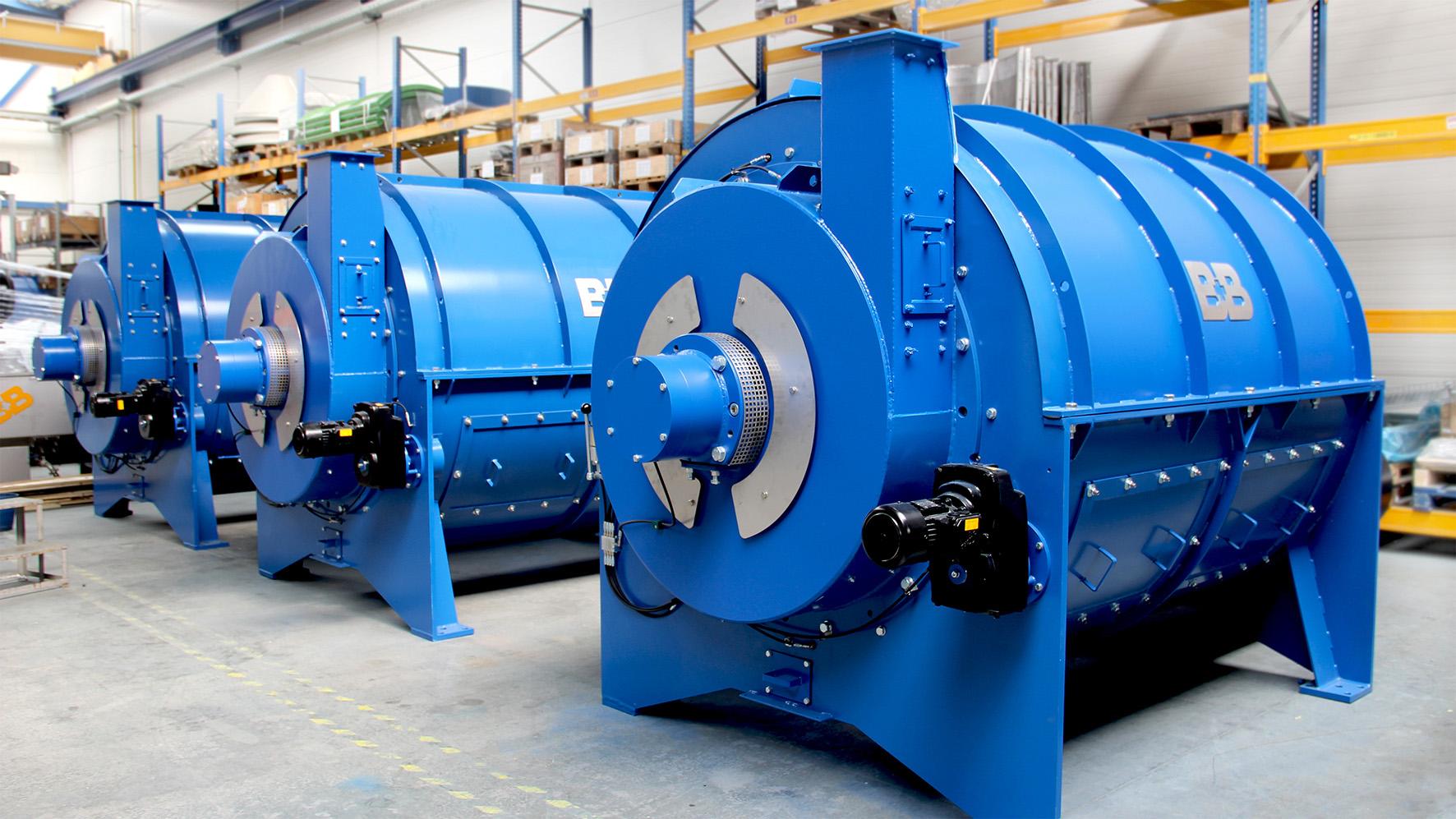 Maschine zur intensiven Vorreinigung von Kunststoffabfällen