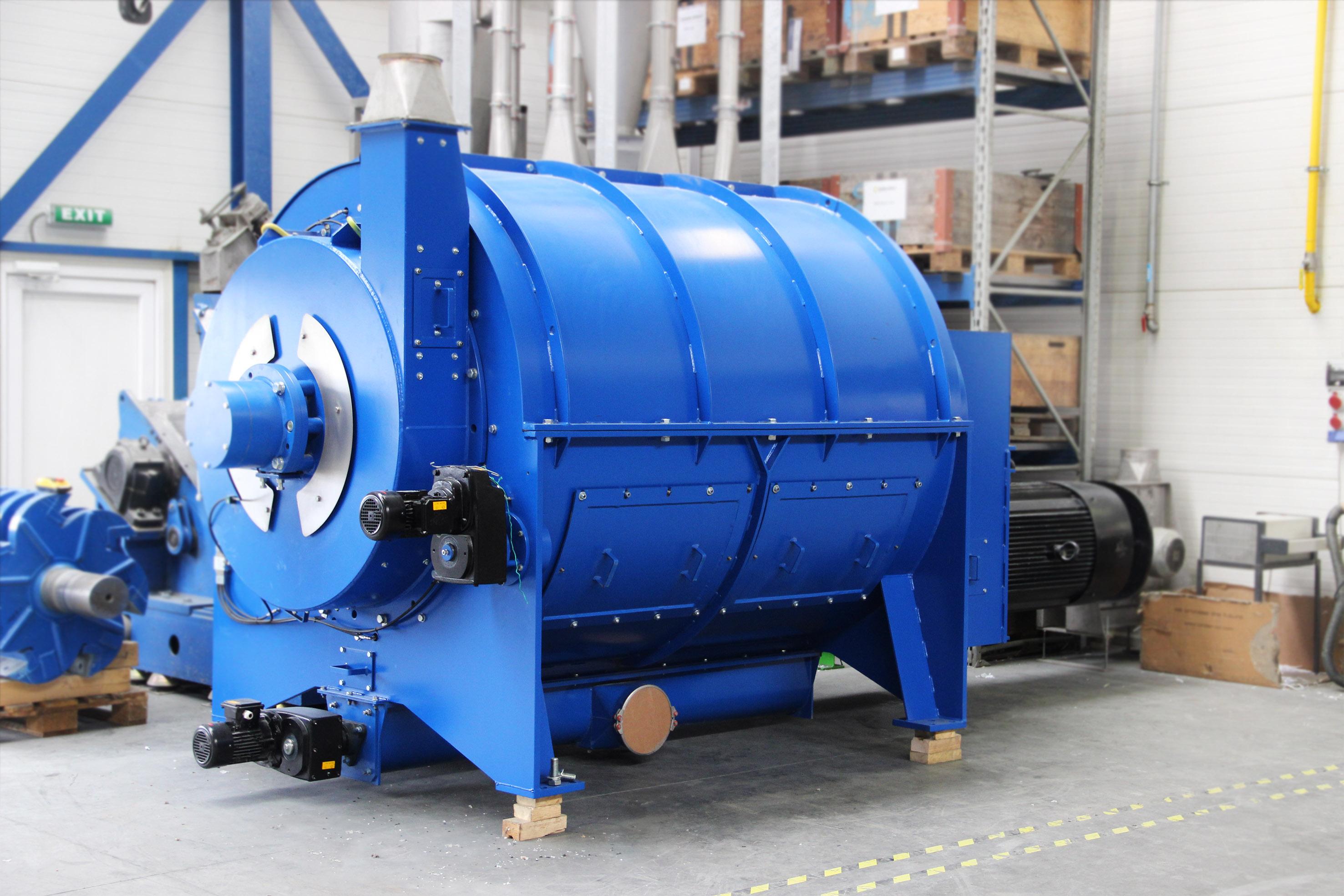 Trockenreinigung für Kunststoffwaschanlagen