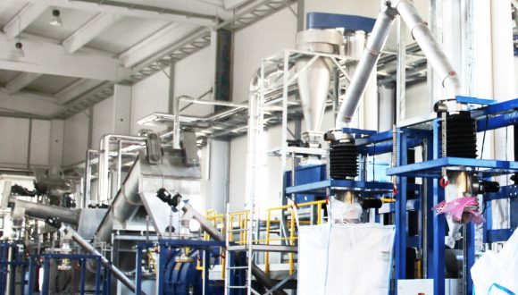 recycling line for PET bottles automatic filling station