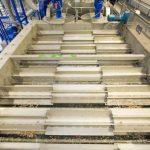 Schwimm-Sink-Tank zur Trennung von gemischten Kunststoffströmen